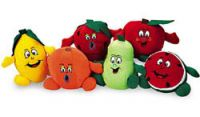 6 Peluches Fruta